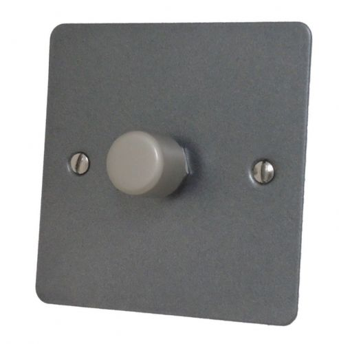 G&H FP15 Flat Plate Pewter 1 Gang 1 or 2 Way 700W Dimmer Switch Single Plate